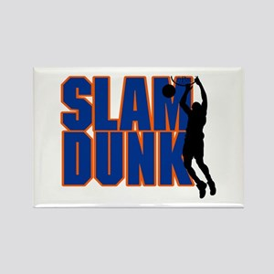 Slam Dunk Basketball Rectangle Magnet