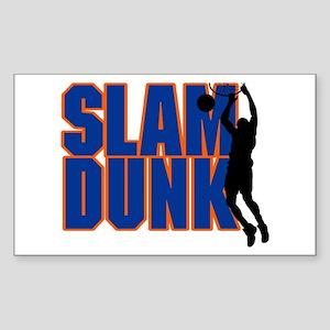 Slam Dunk Basketball Rectangle Sticker