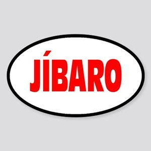 JIBARO... Oval Sticker