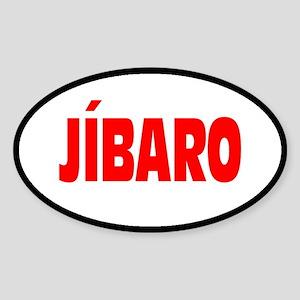 JIBARO... Oval Sticker