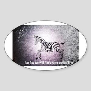 Ribbon Zebra Sticker