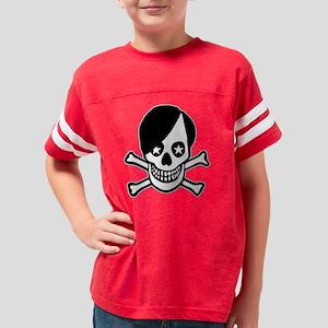 Emo Boy Skull Youth Football Shirt