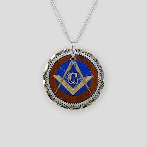 masons Necklace Circle Charm