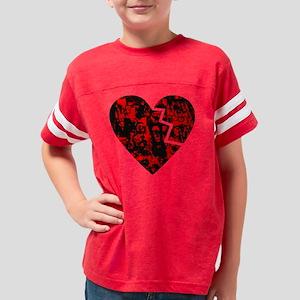 brokenheart2 Youth Football Shirt