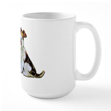 Fox Terrier Happiness Large Mug