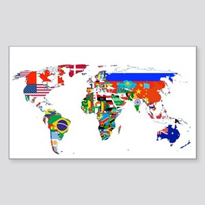 World flag map Sticker