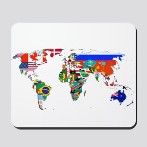 World flag map Mousepad