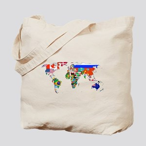 World flag map Tote Bag
