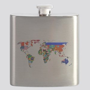 World flag map Flask