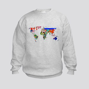 World flag map Sweatshirt