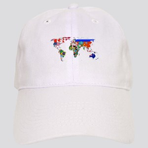World flag map Baseball Cap