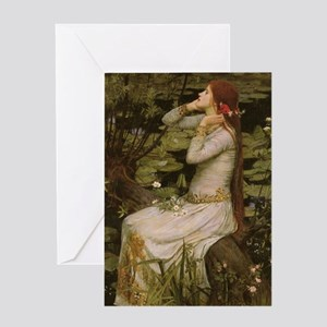 Ophelia by JW Waterhouse Greeting Card