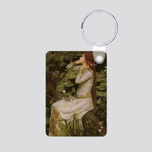 Ophelia by JW Waterhouse Aluminum Photo Keychain