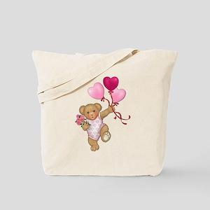 Balloon Teddy Tote Bag