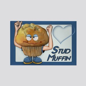 Stud Muffin Rectangle Magnet