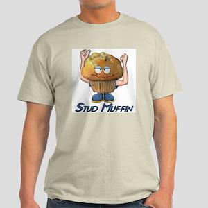 Stud Muffin Ash Grey T-Shirt