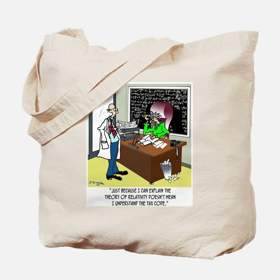 Theory of Relativity & The Tax Code Tote Bag