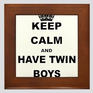 KEEP CALM AND HAVE TWIN BOYS Framed Tile