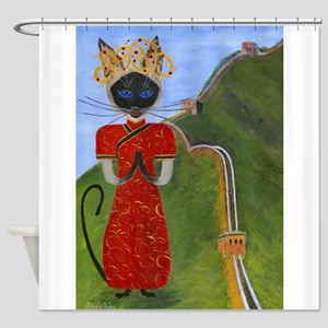 Siamese Queen of China Shower Curtain