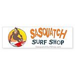 Sasquatch Surf Shop Bumper Sticker
