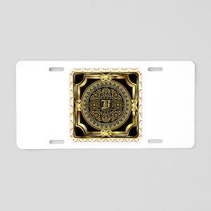 Monogram B Aluminum License Plate