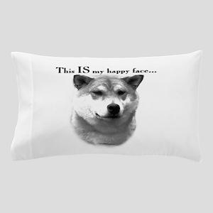 Shiba Inu Happy Face Pillow Case