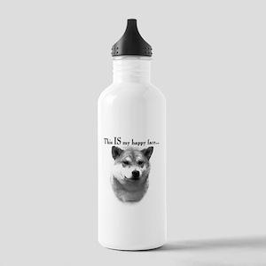 Shiba Inu Happy Face Water Bottle