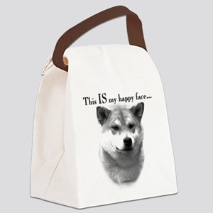 Shiba Inu Happy Face Canvas Lunch Bag