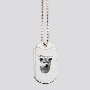Shiba Inu Happy Face Dog Tags