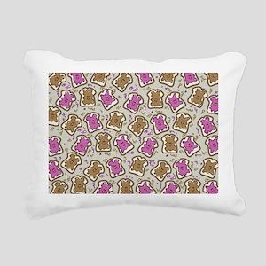 PBJ Sandwich Rectangular Canvas Pillow