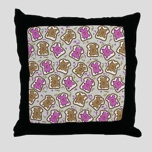PBJ Sandwich Throw Pillow