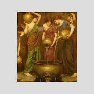 The Danaides by JW Waterhouse Throw Blanket