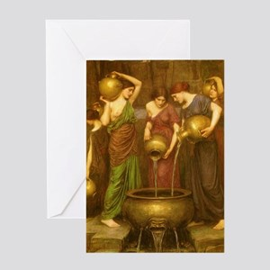 The Danaides by JW Waterhouse Greeting Card