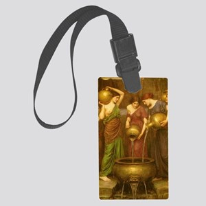 The Danaides by JW Waterhouse Large Luggage Tag