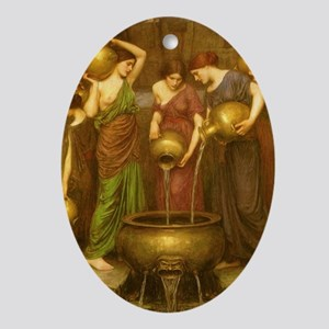The Danaides by JW Waterhouse Oval Ornament
