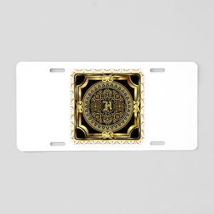 Monogram H Aluminum License Plate
