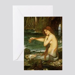 Mermaid by JW Waterhouse Greeting Card