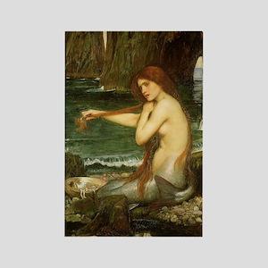 Mermaid by JW Waterhouse Rectangle Magnet