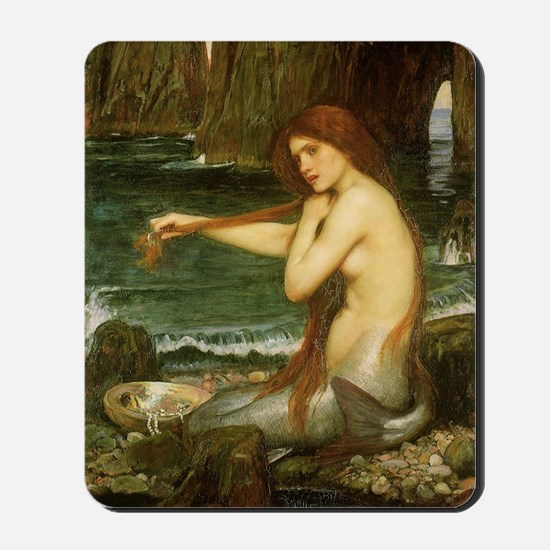 Mermaid by JW Waterhouse Mousepad
