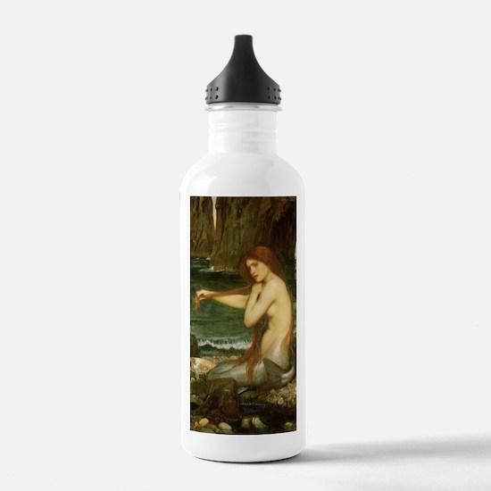 Mermaid by JW Waterhou Water Bottle