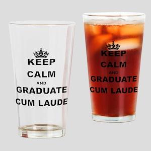 KEEP CALM AND GRADUATE CUM LAUDE Drinking Glass