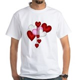 Valentines day Mens Classic White T-Shirts