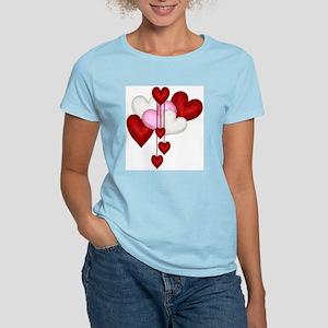 Romantic Hearts Women's Light T-Shirt