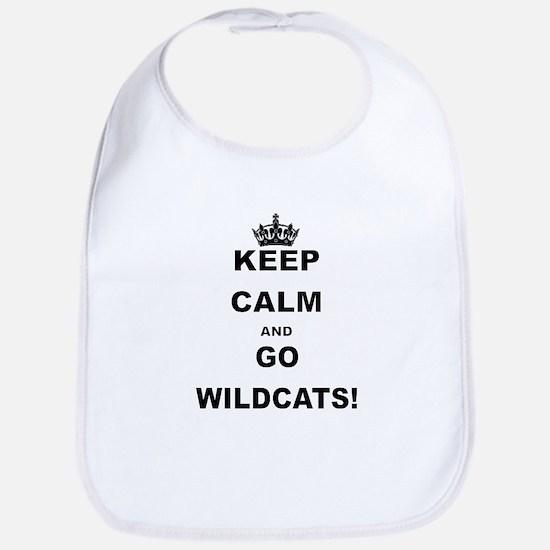 KEEP CALM AND GO WILDCATS Bib