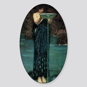 Circe Invidiosa by JW Waterhouse Sticker (Oval)