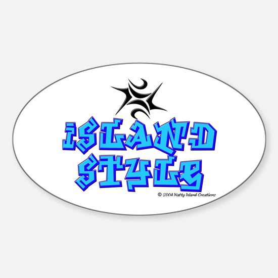 Island Style Oval Decal