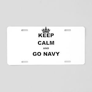 KEEP CALM AND GO NAVY Aluminum License Plate