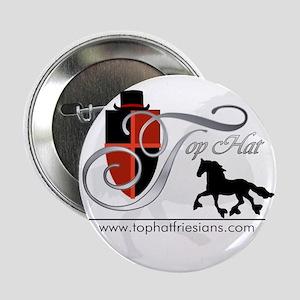 """Top Hat Friesians Logo 2.25"""" Button"""