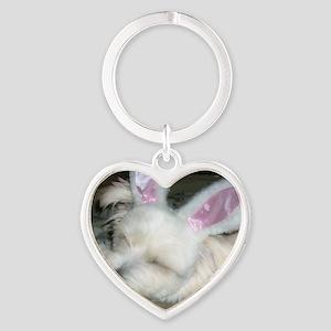 PollyBunnyEars Heart Keychain