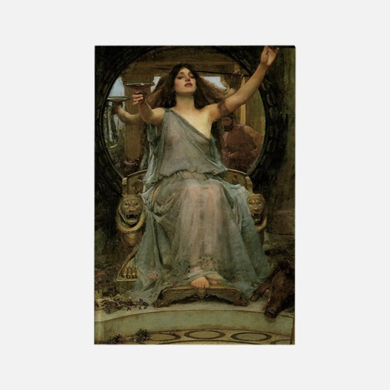 Circe by JW Waterhouse Rectangle Magnet